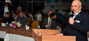 """Başkan Kocamaz, muhtarlarla bir araya geldi Mersin Büyükşehir Belediye Başkanı Burhanettin Kocamaz: """"Mersin'e hizmet için yolumuza devam edeceğiz"""""""