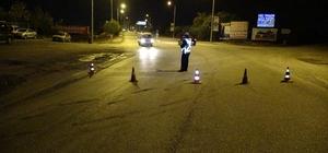 Edirne'de beton mikseri kamera direğine çarptı