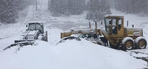 Mevsimin ilk karı Kastamonu'ya yağdı Yüksek kesimlerde etkili olan kar yağışıyla etraf beyaza büründü