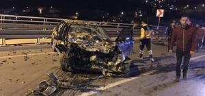Kontrolden çıkan otomobil karşı yönden gelen otomobille çarpıştı: 1 yaralı