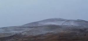 Horasan dağları beyaza büründü