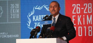 """Dışişleri Bakanı Çavuşoğlu: """"Göç tek başına bir ülkenin ya da uluslararası bir örgütün çözebileceği bir problem değil"""" """"Göç sorunu bir güvenlik sorunudur"""" """"Mültecileri evlerine zorla geri göndermedik"""""""
