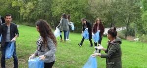 OMÜ'lü çevre gönüllüleri iş başında