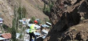 Yerleşim Alanlarını etkileyen, düşmesi muhtemel kayaların ıslahı çalışmaları tamamlandı