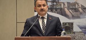 """Bakan Pakdemirli Adana'da sektör temsilcileriyle buluştu Tarım ve Orman Bakanı Dr. Bekir Pakdemirli: """"İmamoğlu Ovası'nda 100 bin dönüm alanı daha sulamaya açacağız"""" """"Son 16 yılda Adana'ya tarım ve hayvancılıkta 3 milyar lira hibe desteği verdik"""" """"Adana ilinin son 16 yılında büyükbaş hayvan sayısı yüzde 63'lük artışla 235 bin başa, küçükbaş sayısı yüzde 75'lik artışla 770 bin başa yükseldi"""" """"Yakın zamanda 'Havza Bazlı Yönetim' sistemine geçeceğiz"""""""