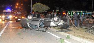 Karşı şeride geçen otomobil düğün konvoyuna çarptı: 6 yaralı
