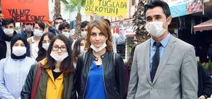 Karasu Atatürk Anadolu Lisesi öğrencilerinden anlamlı etkinlik Yüzlerine taktıkları beyaz maskeler ile lösemi hastalığına dikkat çektiler