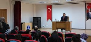 Başkan Cabbar Necmiye-Mustafa Maşlak Mesleki ve Teknik Anadolu Lisesi öğrencileriyle bir araya geldi