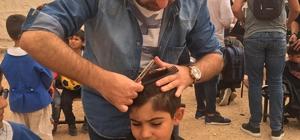 Türkiye'nin 4 bir yanından gelen gönüllü berberler Güneydoğulu öğrencileri tıraş etti Öğrenciler, kuaför ve berberlere resimli mektup yazarak teşekkür ettiler