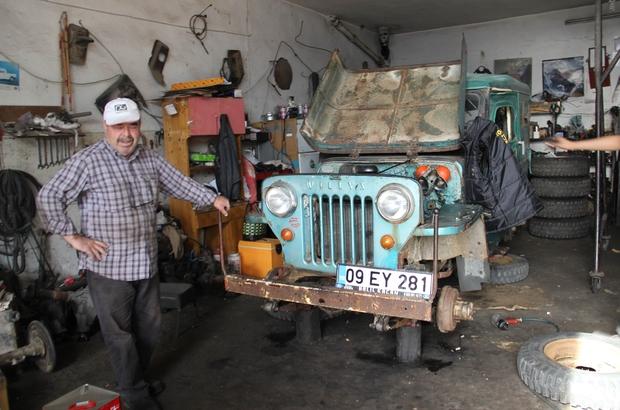 İhsan Usta, mahareti ile incir, kestane ve zeytin üreticisinin en büyük yardımcısı oluyor 70 yıllık arabayı yeniden canlandırıp eski haline getirdi