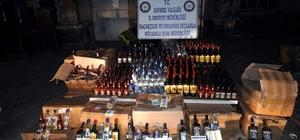 Kayseri'de yılbaşında piyasaya sürülecek kaçak içki ele geçirildi
