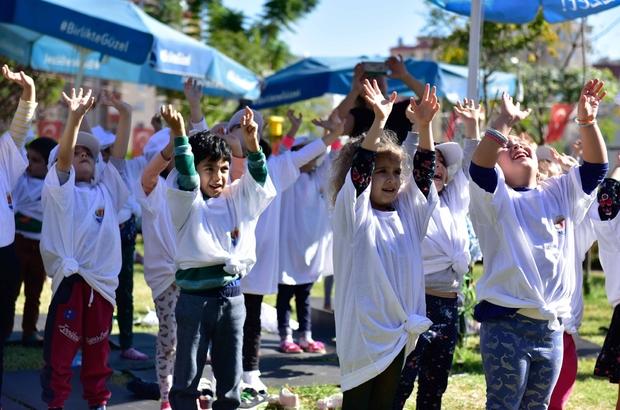 Gençlere ebru, çocuklara yoga