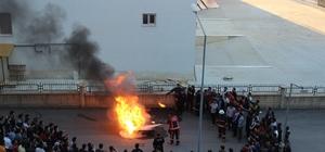 Elazığ'da yurtta yangın tatbikatı yapıldı