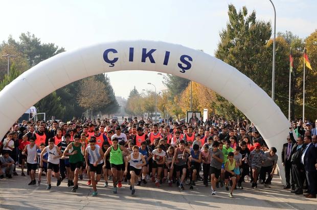 GAÜN'de geleneksel Atatürk koşusu gerçekleşti