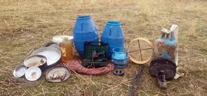Çatak'ta toprağa gömülü EYP ile çok sayıda yaşam malzemesi ele geçirildi