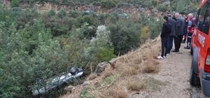 Otomobil uçuruma yuvarlandı: 2 yaralı Cankur ekipleri tarafından kurtarılan yaralılar hastaneye kaldırıldı