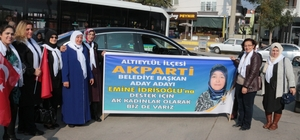 Altıeylül'ün ilk kadın aday adayı oldu Emine İdrisoğlu aday adaylığını açıkladı