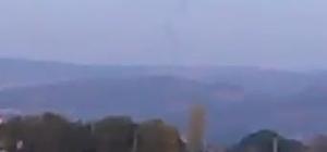 Havadaki görüntü ortalığı karıştırdı Duman görüntüsünün uçak düşmesi olarak yorumlanması ortalığı karıştırdı
