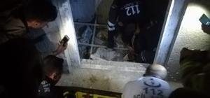 Asansör boşluğuna düşen kadını itfaiye kurtardı
