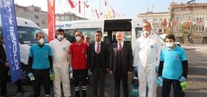 Kocasinanlı Belediyesi okul servislerini dezenfekte edecek