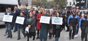 Ak Parti Kadın Kolları 14 Kasım Diyabet Günü dolayısıyla yürüyüş düzenlendi