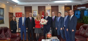 Öğretmenlerden Başkan Aydın Yılmazer'e ziyaret