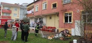 Suriyeli ailenin yaşadığı evde çıkan yangın korkuttu