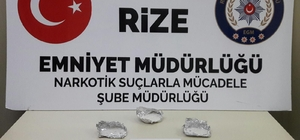 Rize'de uyuşturucu operasyonu: 2 gözaltı