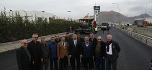 Başkan Çelik, Kayseri OSB'deki asfalt çalışmalarını takip etti