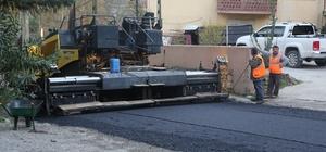 Dibektaş Caddesi'nde asfalt çalışması