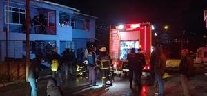 Evin bacasında çıkan yangın paniğe neden oldu
