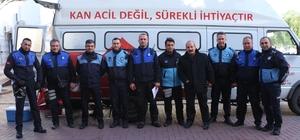 Kuşadası Belediyesi Zabıta Müdürlüğünden kök hücre ve kan bağışı