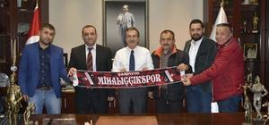 Mihalıççıkspor'dan Ataç'a ziyaret