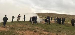 Mağarada çıkan yangında çoban dumandan etkilendi 100'e yakın küçükbaş hayvan telef oldu