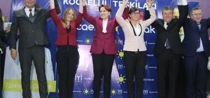"""Akşener, seçim startını Kocaeli'den verdi İYİ Parti Genel Başkanı Meral Akşener, 4 ilçenin belediye başkan adaylarını açıkladı. İYİ Parti Genel Başkanı Meral Akşener: """"Seçimlerin bayram, düğün heyecanı içerisinde geçmesi için elimizden geleni yapacağız"""""""