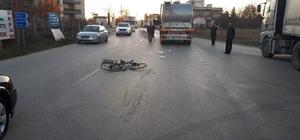 Bisikletin üzerindeki 3 çocuğa kamyon çarptı: 2'si ağır, 1'i hafif yaralı
