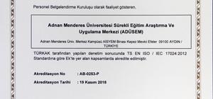 ADÜSEM, Türk Akreditasyon Kurumu tarafından akredite edildi