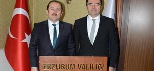 Vali Pehlivan, Erzurum Valisi Memiş'i ziyaret etti