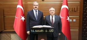 Vali Ömer Toraman'dan, Vali Ahmet Hamdi Nayir'e ziyaret