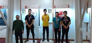 Dart turnuvasında madalyaları topladılar