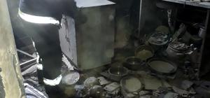 Gaz kaçağı çakmakla kontrol edilirken yangın çıktı