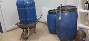 Yalova'da el yapımı içki operasyonu