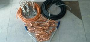 4 bin TL'lik kablo çalan 3 şüpheli yakalandı
