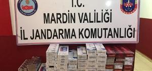 Mardin'de 950 paket kaçak sigara ele geçirildi