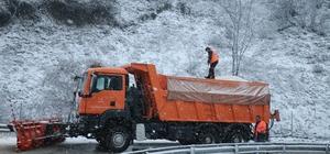 Bolu Dağı'nda kar yağışı ve sis etkili oluyor
