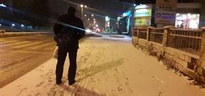 Bozüyük'te kar yağışı etkili oldu