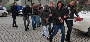 Samsun'da uyuşturucu ticaretinden 8 zanlı adliyede