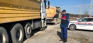 Jandarma trafik timlerinden 'ağır vasıta' denetimi
