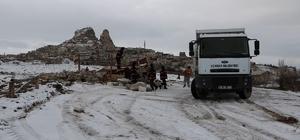 Uçhisar'da kaçak yapı yıkıldı