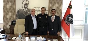 Polis Okulu Müdürü Ogün Şahin'e hayırlı olsun ziyareti